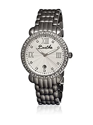 Bertha Uhr mit Japanischem Quarzuhrwerk Ruth silberfarben 41 mm