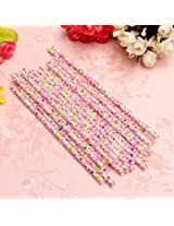 25Pcs Biodegradable Paper Flower Floral Drinking Straws Birthday Party Wedding (#3)