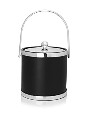 Kraftware Sophisticates 3-Qt. Ice Bucket with Track Handle (Chrome)