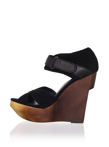 Joe's Jeans Women's Toni Wedge Sandal (Black)
