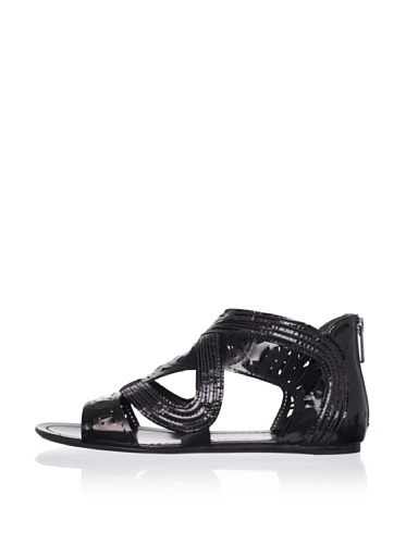 Belle by Sigerson Morrison Women's Floris Flat Sandal (Black)