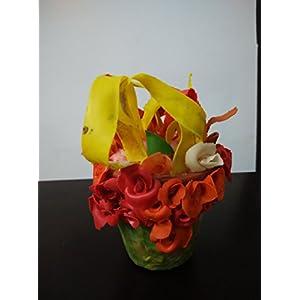 NUCreations Clay Flower Vase Showpiece