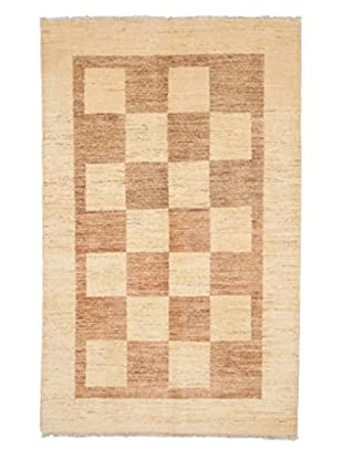 Darya Rugs Modern Oriental Rug, Ivory/Light Brown, 4' 1