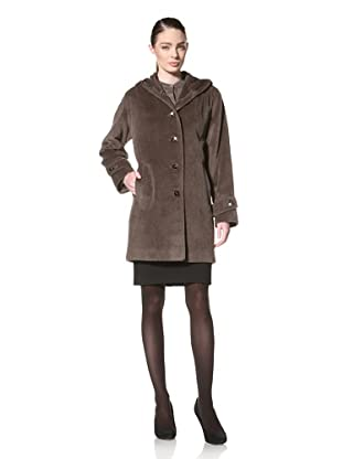 Jones New York Women's Single-Breasted Hooded Coat (Straw)