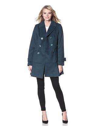 Kensie Women's Double Breasted Coat (Teal)