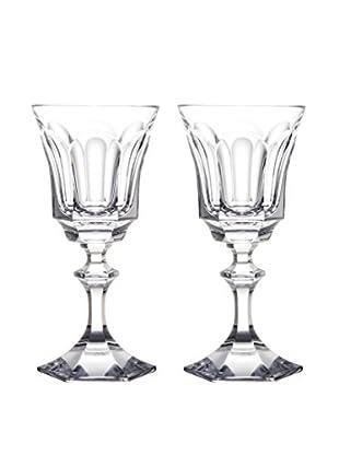 Rogaška Set of 2 Royal Goblets, Clear