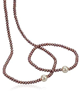 Pearl Dreams Conjunto collar + pulsera A2312-Set-lila-SIR_76-
