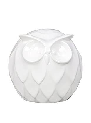 Small Ceramic Owl, White
