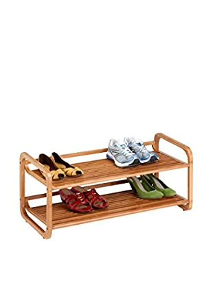 Honey-Can-Do 2-Tier Stackable Bamboo Shoe Shelf
