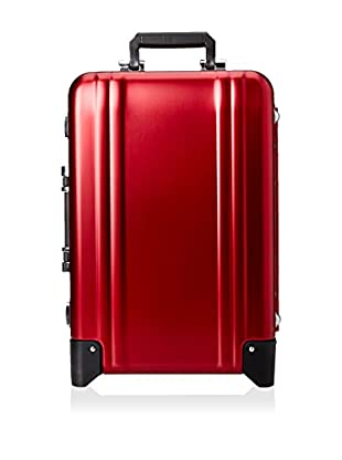 ZERO Halliburton Classic Aluminum Carry On 2-Wheel Travel Case, Red
