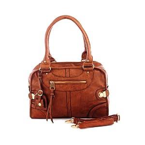 Kiara Handbag with Multiple Zipper Pockets
