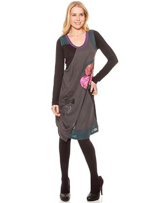 SideCar Kleid Blume (Grau)
