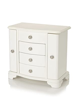 Rene 2 Door Jewelry Box (White)