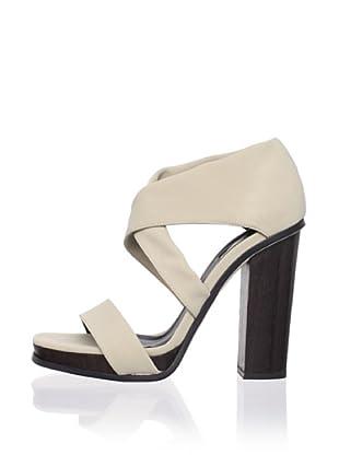 Calvin Klein Collection Women's Fiana Strappy Sandal (Khaki)