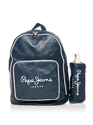 Pepe Jeans Set de mochila + estuche Azul Marino