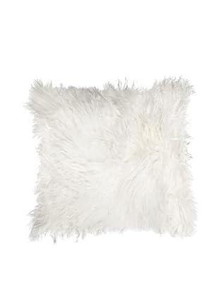 Natural Brand Mongolian Sheepskin Pillow, White