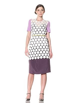 MARNI Women's Short Sleeve Disk Dress (Violet)