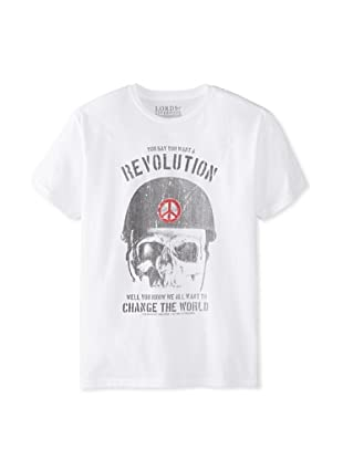 Lords of Liverpool Men's You Want a Revolution Crew Neck Tee (White)