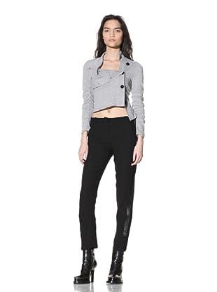Ann Demeulemeester Women's Cropped Tuxedo Pants (Black)
