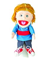 "Sunny Toys 14"" Yellow-Haired Girl In Blue Top Glove Puppet"