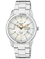 Seiko 5 Analog White Dial Men's Watch - SNKN11K1