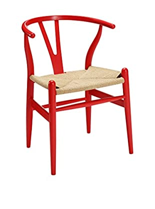 Modway Amish Wooden Dining Arm Chair, Red