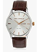 5124204 Brown/Silver Analog Watch Ted Lapidus
