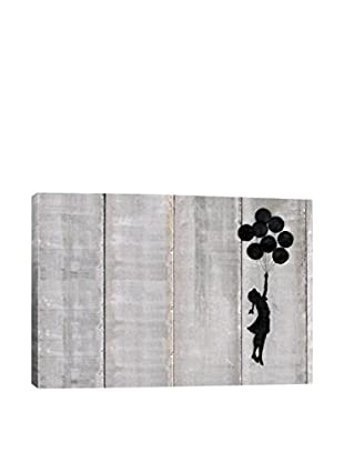 Banksy Flying Balloons Girl Gallery Wrapped Canvas Print
