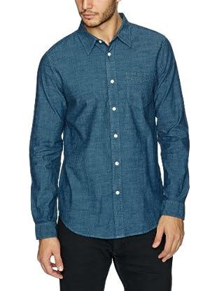 Lee Camisa Baker (Azul medio)