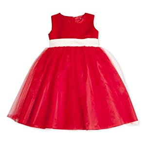 Girls Satin Gown Red Party Dress(5 - 6 years)