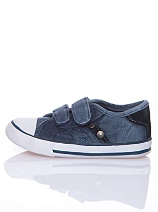 Billowy Zapatillas Lona Velcro Travis (Azul)