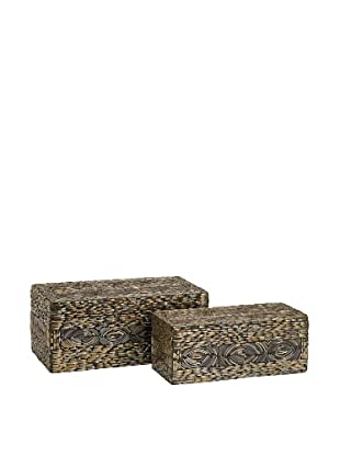 Set of 2 Omiska Rectangle Boxes