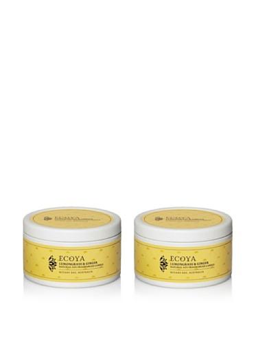 Ecoya Set of 2 Lemongrass & Ginger 6-oz. Everyday Tins