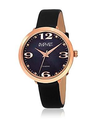 August Steiner Uhr mit japanischem Quarzuhrwerk  schwarz 37 mm