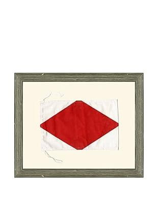 Framed Maritime Letter F