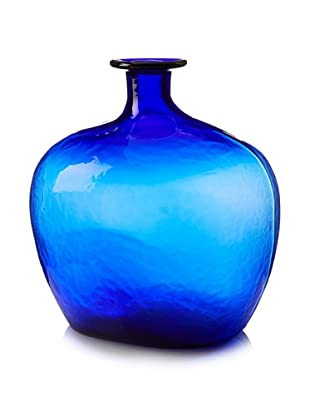 Worldly Goods Mouth Blown Mega Glass Bottle, Cobalt