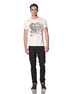 Tee Library Men's Adam & Eve Crew Neck T-Shirt (White)