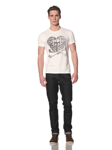 Tee Library Men's Adam & Eve Crew Neck T-Shirt (White)