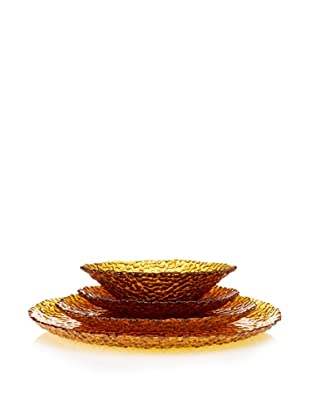 Artland Dapple 4-Piece Place Setting, Amber