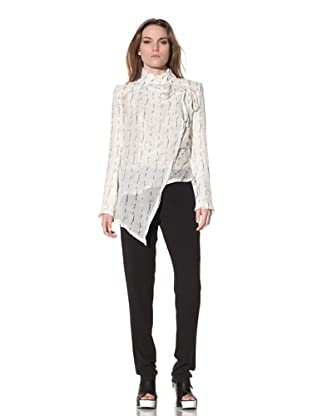 Ann Demeulemeester Women's Wrap Front Blouse (Off-White)