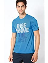Light Blue Crew Neck T Shirts