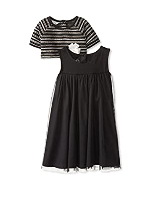 Laura Ashley Girls' Tank Dress with Cropped Sweater