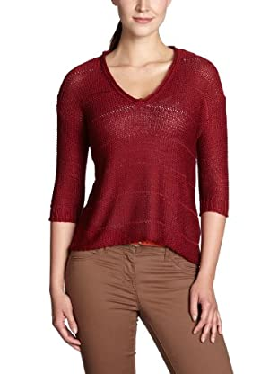 ONLY Pullover, V-Ausschnitt (Rot)