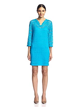 Sharagano Women's Bell Sleeve Lace Shift Dress