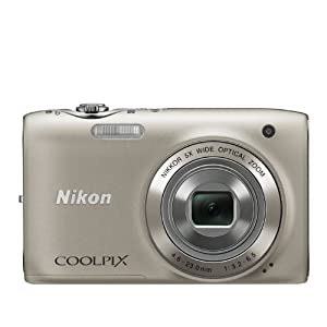Nikon COOLPIX S3100 14 MP Digital Camera with 5x NIKKOR Wide-Angle Optical Zoom Lens and 2.7-Inch LCD (Silver)