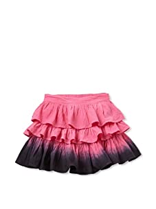 Beetlejuice London Girl's Azalea Dip-Dyed Three Tier Skirt (Hot Pink)