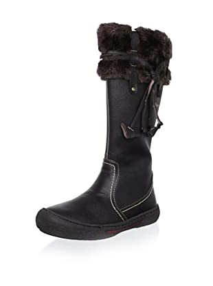 Billowy Kid's Cuffed Tall Boot (Black)