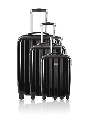 Travel ONE Set de 3 trolleys rígidos Badon Negro