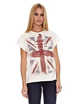 Pepe Jeans London Camiseta 40Ladies (Blanco)