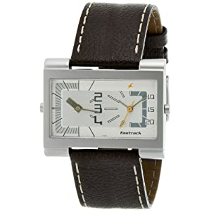 Fastrack Dual Time Analog White Dial Men's Watch - N1391SL01